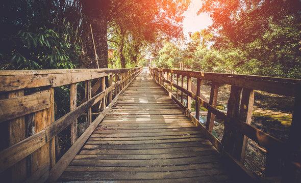Wood bridge,Dark Tone