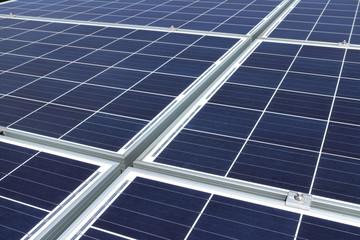 Solar Panels Background Closeup