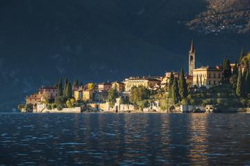 View of Varenna at sunset - Lake Como (Italy)