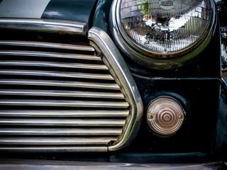 Head light of vintage car