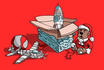 Kerst cadeaus uit een doos