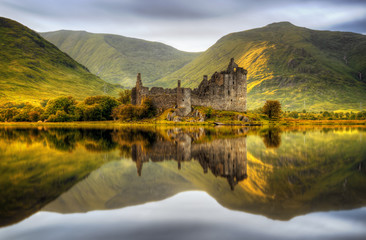 Kilchurn sunset Wall mural