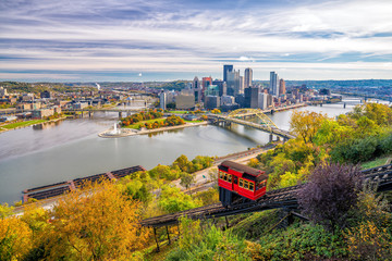 Wall Mural - View of downtown Pittsburgh