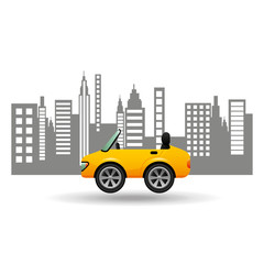 sport car coupe city background design vector illustration eps 10