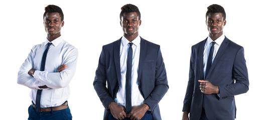 Handsome business black man