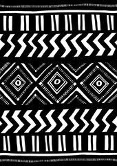 Ethnic pattern in black and white.