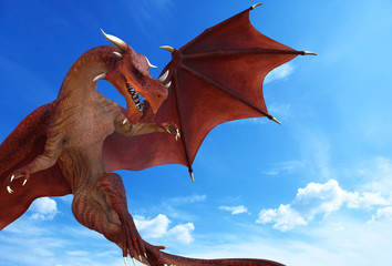 blue sky red dragon war