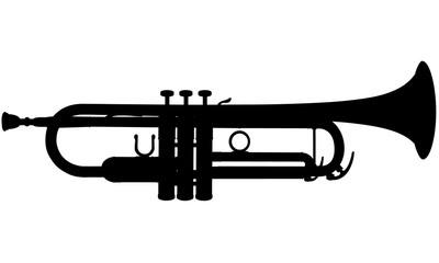Silhouette d'une trompette. Wall mural