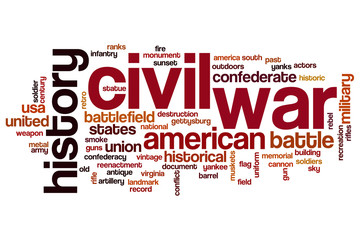 Civil war word cloud
