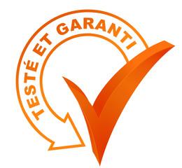 Fototapete - testé et garanti sur symbole validé orange