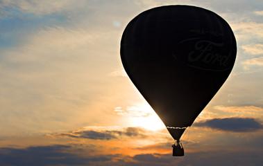 Balloon in sunset