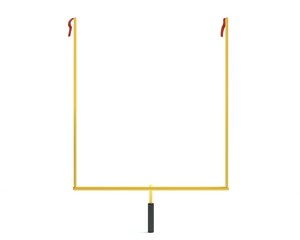 3d illustration of football uprights