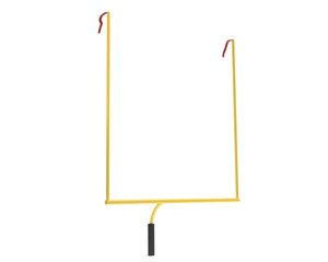 3d illustration football uprights