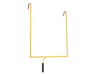 3d illustration football uprights