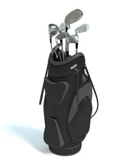 3d illustration of a golf bag