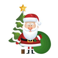cute santa claus character vector illustration design