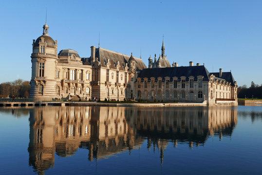 Grand bassin au château de Chantilly, France