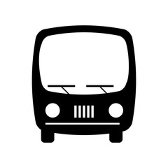 bus transport silhouette icon vector illustration design