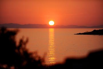Adriatic sea islands at sunset