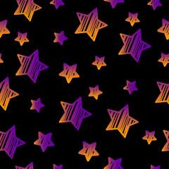 Stars seamless pattern background.