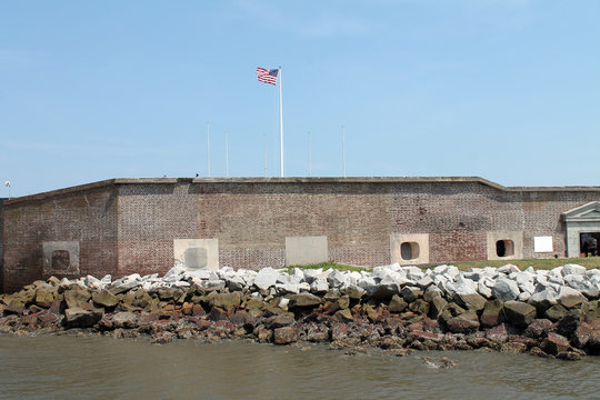 View of Fort Sumter, South Carolina