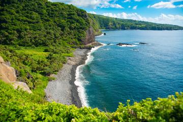 Beautiful rocky beach on the island of Maui, Hawaii