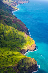 Fototapete - View on Napali Coast on Kauai island on Hawaii