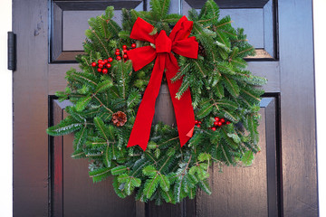 Christmas wreath on the gate