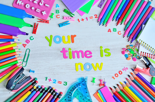 word color letter your time is now