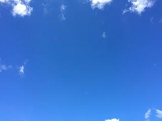 Blue sky background.photo by smartphone.