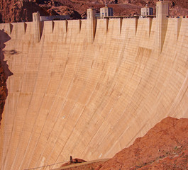 Face of Hoover Dam, Lake Mead , Colorado River