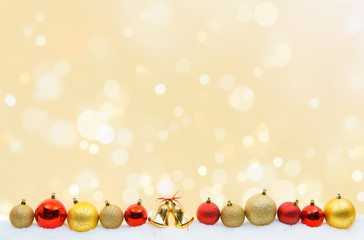 Weihnachten Hintergrund Kugeln rot