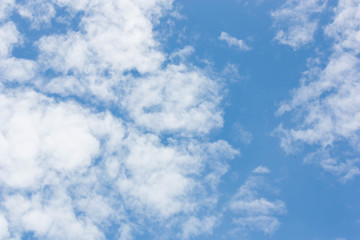 Blue sky with cloudy background.