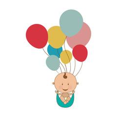 cute baby boy icon image vector illustration design