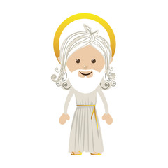 god representation icon image vector illustration design
