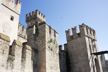 The castle of Sirmione on Lake Garda