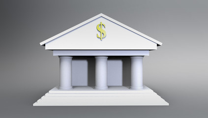 Bank Illustration made in 3d