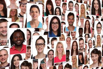 Hintergrund Collage viele junge Leute Menschen Jugendliche Grupp