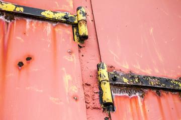 Old rusty door hinges Texture Background