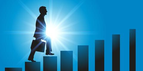Homme - entreprise - ascension - difficile