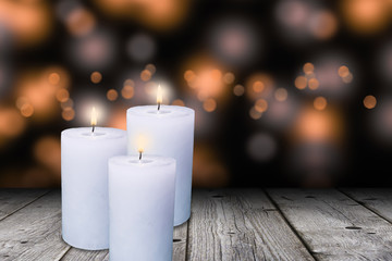 cozy atmosphere with candle lights