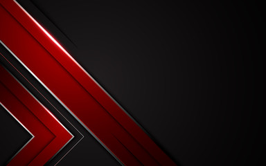 abstract frame red black metallic design modern tech sport gamer concept layout background