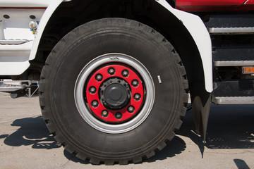 Firefighters car equipment park, tires, head lamp, siren, truck flight