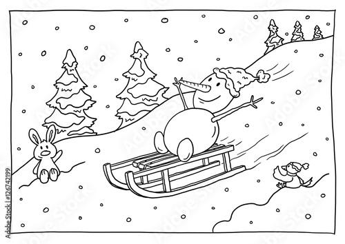 Ausmalbild Weihnachten Stockfotos Und Lizenzfreie Bilder Auf
