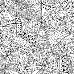 Zentangle abstract seamless pattern.