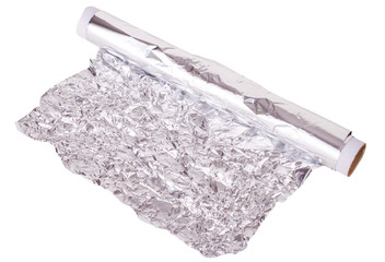 food foil on a white background