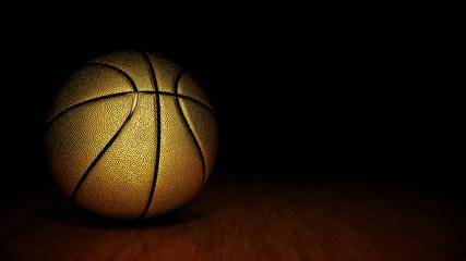 gold basket ball. 3d rendering