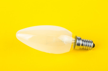 light bulb on a yellow background