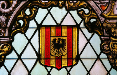 Coat of Arms of Mechelen - Stained Glass