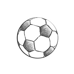 Football icon sketch. Soccer ball drawing in doodles style. Football hand-drawn sketches in monochrome. Sport vector.
